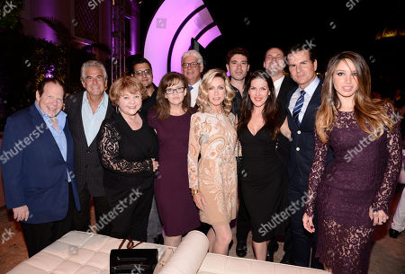 Robert Lorsch, from left, Larry Gilman, Patrika Darbo, Gregori J. Martin, Chrystal Ayers, Bob Mauro, Donna Mills, Kristos Andrews, Kira Reed Lorsch, Jared Safier, Vincent de Paul and Celeste Fainna seen at the Television Academy's 67th Emmy Daytime Peer Group Celebration at the Montage Beverly Hills on in Beverly Hills, Calif