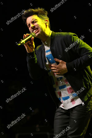 Chad Vaccarino of A Great Big World performs at the Fresh 102.7 Fall Fest at the Theater at Madison Square Garden, in New York
