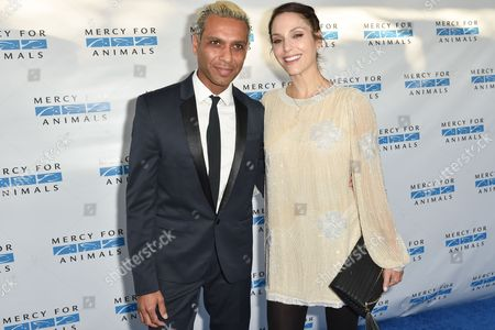 "Tony Ashwin Kanal, left and Erin Lokitz arrive at ""Mercy For Animals' Hidden Heroes Gala"" held at Unici Casa, in Culver City, Calif"