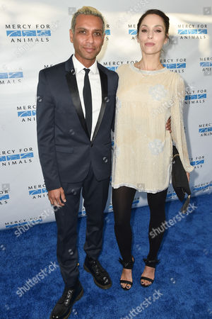 """Stock Picture of Tony Ashwin Kanal, left and Erin Lokitz arrive at """"Mercy For Animals' Hidden Heroes Gala"""" held at Unici Casa, in Culver City, Calif"""
