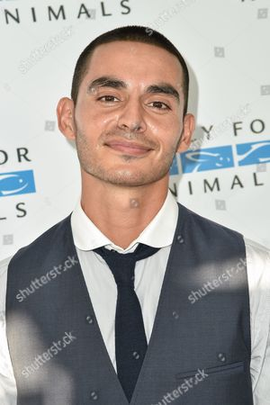 """Manny Montana arrives at """"Mercy For Animals' Hidden Heroes Gala"""" held at Unici Casa, in Culver City, Calif"""