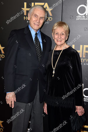 Peter Mark Richman, left, and Helen Richman arrive at the Hollywood Film Awards at the Beverly Hilton Hotel, in Beverly Hills, Calif