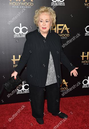 Stock Image of Doris Roberts arrives at the Hollywood Film Awards at the Beverly Hilton Hotel, in Beverly Hills, Calif