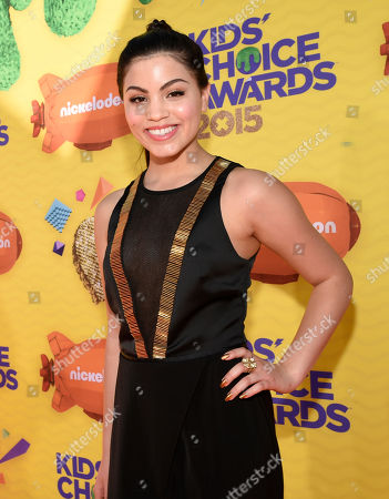 Paola Andino arrives at Nickelodeon's 28th annual Kids' Choice Awards at The Forum, in Inglewood, Calif