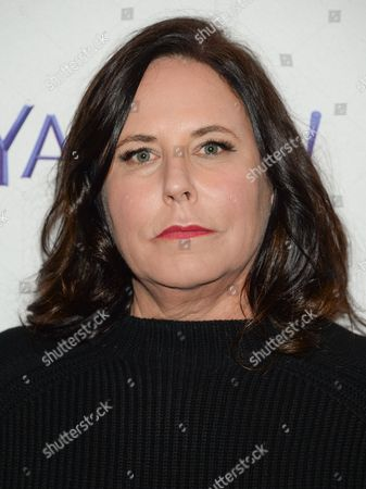 """Creator I. Marlene King arrives at the 2015 PaleyFest New York """"Pretty Little Liars"""" panel discussion at The Paley Center for Media, in New York"""