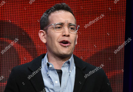 """Jason Winer participates in the """"Life in Pieces"""" panel at the CBS Summer TCA Tour at the Beverly Hilton Hotel, in Beverly Hills, Calif"""