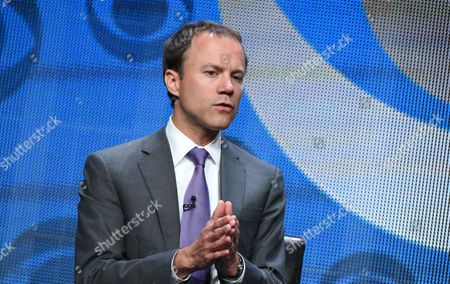 David Rhodes, president, CBS News participates in the CBS News panel at the CBS Summer TCA Tour at the Beverly Hilton Hotel, in Beverly Hills, Calif