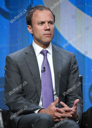 President, CBS News, David Rhodes, participates in the CBS News panel at the CBS Summer TCA Tour at the Beverly Hilton Hotel, in Beverly Hills, Calif