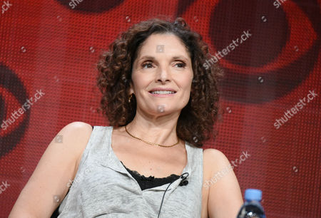 """Stock Image of Mary Elizabeth Mastrantonio participates in the """"Limitless"""" panel at the CBS Summer TCA Tour at the Beverly Hilton Hotel, in Beverly Hills, Calif"""