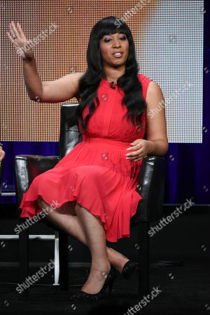 """Stock Image of Sequoia Blodgett participates in the """"Startup Uâ?? panel at the Disney/ABC Summer TCA Tour at the Beverly Hilton Hotel on in Beverly Hills, Calif"""