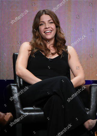 """Stock Image of Paige Spara participates in the """"Kevin From Work"""" panel at the Disney/ABC Summer TCA Tour at the Beverly Hilton Hotel, in Beverly Hills, Calif"""