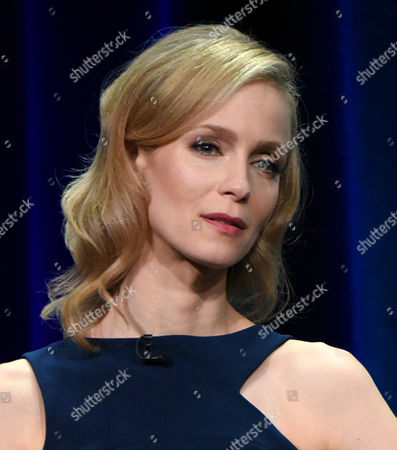 Laura Regan participates in the 'Minority Report' panel at the Fox Television Critics Association Summer Tour at the Beverly Hilton Hotel, in Beverly Hills, Calif