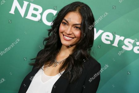 Stock Picture of Florence Faivre arrives at the NBCUniversal Television Critics Association Summer Tour at the Beverly Hilton Hotel, in Beverly Hills, Calif
