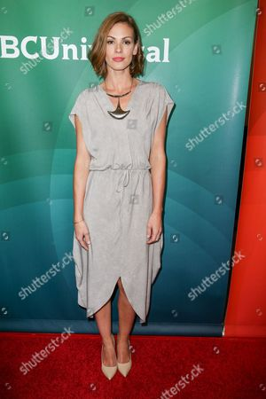 Daisy Betts arrives at the NBCUniversal Television Critics Association Summer Tour at the Beverly Hilton Hotel, in Beverly Hills, Calif