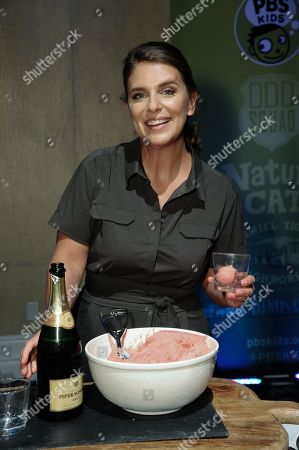 """Chef Vivian Howard smiles during """"A Chefâ?™s Life """" dessert reception at the PBS 2015 Summer TCA Tour held at the Beverly Hilton Hotel, in Beverly Hills, Calif"""
