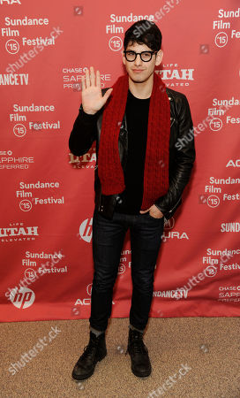 """Matt Bennett, a cast member in """"Me and Earl and the Dying Girl,"""" poses at the premiere of the film at the Eccles Theatre during the 2015 Sundance Film Festival, in Park City, Utah"""