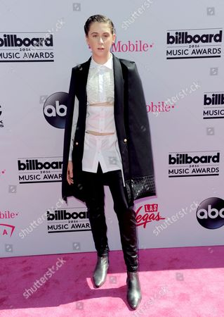 Trevor Moran arrives at the Billboard Music Awards at the T-Mobile Arena, in Las Vegas
