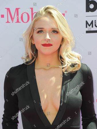 Stock Image of Jenn McAllister arrives at the Billboard Music Awards at the T-Mobile Arena, in Las Vegas