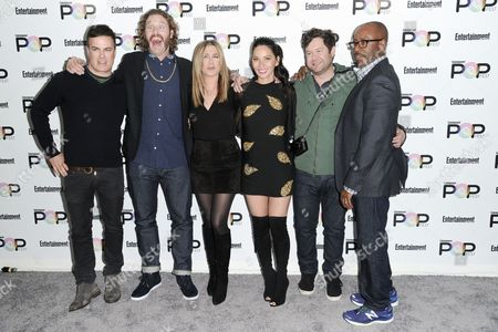 Will Speck, T.J. Miller, Jennifer Aniston, Olivia Munn, Josh Gordon and Courtney B. Vance attend the 2016 Entertainment Weekly's Popfest, in Los Angeles