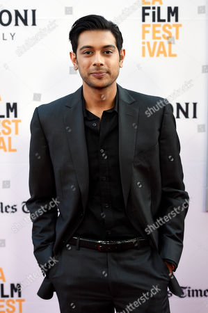 """Stock Picture of Abhi Sinha, a cast member in """"The Conjuring 2,"""" poses at the premiere of the film during the Los Angeles Film Festival at the TCL Chinese Theatre, in Los Angeles"""