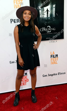 Actress Lyndie Greenwood poses at the premiere of the film during the Los Angeles Film Festival at the TCL Chinese Theatre, in Los Angeles