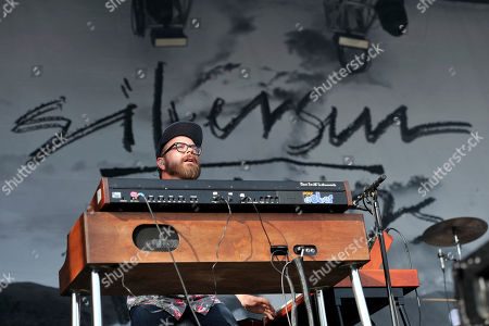 Joe Lester of Silversun Pickups performs on day 4 at Lollapalooza in Grant Park, in Chicago