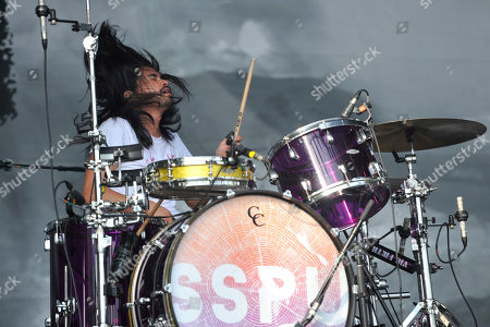 Stock Image of Chris Guanlao of Silversun Pickups performs on day 4 at Lollapalooza in Grant Park, in Chicago