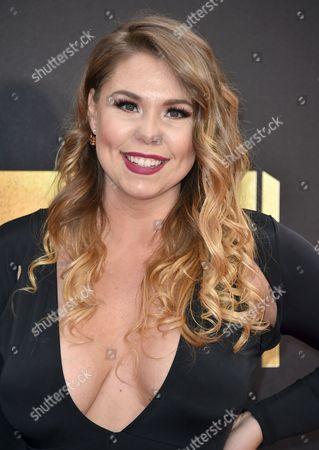 Kailyn Lowry arrives at the MTV Movie Awards at Warner Bros. Studios, in Burbank, Calif