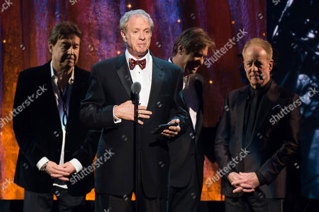 Inductee Lee Loughnane from Chicago appears at the 31st Annual Rock and Roll Hall of Fame Induction Ceremony at the Barclays Center, in New York