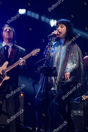 Kimbra performs at the 31st Annual Rock and Roll Hall of Fame Induction Ceremony at the Barclays Center, in New York