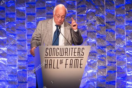 Seymour Stein speaks at the 47th Annual Songwriters Hall of Fame Induction Ceremony and Awards Gala at the Marriott Marquis Hotel, in New York