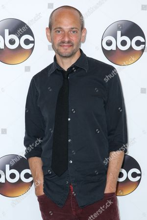 """Stock Photo of Jonathan Slavin, a cast member in the television series """"Dr. Ken,"""" arrives at the Disney/ABC Television Critics Association summer press tour, in Beverly Hills, Calif"""