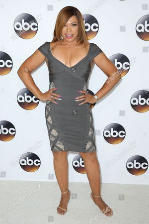 """Tisha Campbell-Martin, a cast member in the television series """"Dr. Ken,"""" arrives at the Disney/ABC Television Critics Association summer press tour, in Beverly Hills, Calif"""