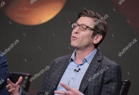 """Executive producer Kenny Schwartz participates in the """"American Housewife"""" panel during the Disney/ABC Television Critics Association summer press tour, in Beverly Hills, Calif"""