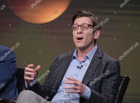"""Stock Photo of Executive producer Kenny Schwartz participates in the """"American Housewife"""" panel during the Disney/ABC Television Critics Association summer press tour, in Beverly Hills, Calif"""