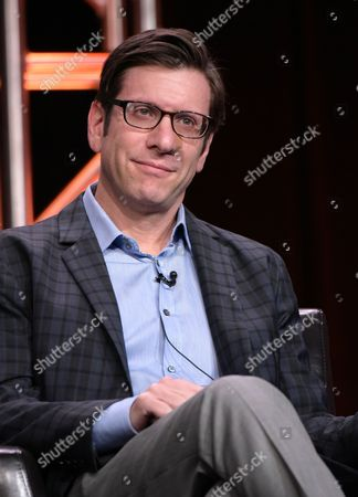 """Stock Image of Executive producer Kenny Schwartz participates in the """"American Housewife"""" panel during the Disney/ABC Television Critics Association summer press tour, in Beverly Hills, Calif"""