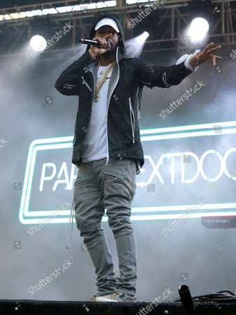 Jahron Brathwaite of PARTYNEXTDOOR performs during the Sweetlife Festival at Merriweather Post Pavilion, in Columbia, Md