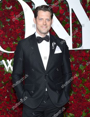 David Furr arrives at the Tony Awards at the Beacon Theatre, in New York