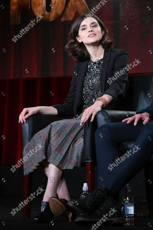 "Actors Rebecca Liddiard participates in the ""Houdini & Doyle"" panel at the Fox Winter TCA, Pasadena, Calif"