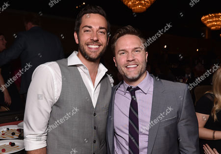 """Zachary Levi, left, and Scott Porter attend the 23rd annual """"A Night at Sardi's"""" to benefit the Alzheimer's Association at the Beverly Hilton Hotel, in Beverly Hills, Calif"""