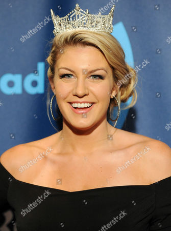 Miss America Mallory Hagan attends the 24th Annual GLAAD Media Awards at the Marriott Marquis on in New York