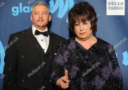 "Stock Image of Nominees Joan Koplan, right, and Dennis Croft from the television show ""Small Town Security"" attend the 24th Annual GLAAD Media Awards at the Marriott Marquis on in New York"
