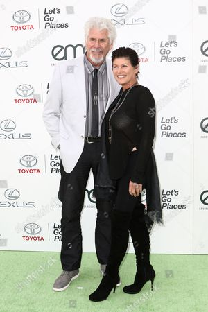 Barry Bostwick, left, and Sherri Jensen attend the 25th Annual Environmental Media Awards held at Warner Bros. Studios, in Burbank, Calif