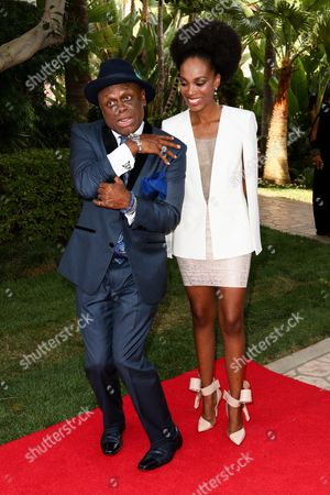 Stock Picture of Comedian Michael Colyar, left, and Nyesha Wilson attend the 26th Annual Heroes and Legends Awards held at The Beverly Hills Hotel, in Beverly Hills, Calif