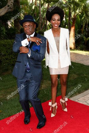 Comedian Michael Colyar, left, and Nyesha Wilson attend the 26th Annual Heroes and Legends Awards held at The Beverly Hills Hotel, in Beverly Hills, Calif