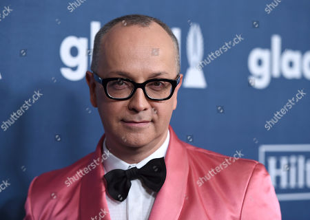 Juan Carlos Arciniegas arrives at the 27th Annual GLAAD Media Awards at the Beverly Hilton, in Beverly Hills, Calif