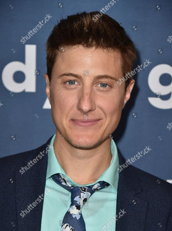 Scott Turner Schofield arrives at the 27th Annual GLAAD Media Awards at the Beverly Hilton, in Beverly Hills, Calif