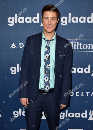 Stock Photo of Scott Turner Schofield arrives at the 27th Annual GLAAD Media Awards at the Beverly Hilton, in Beverly Hills, Calif