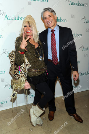 David Yarnold, President and CEO, National Audubon Society, and designer Betsey Johnson attend the National Audubon Society's 2nd Annual Gala Dinner, in New York