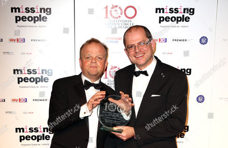Stock Image of Toby Jones, left, and Stevie Haywood seen at the 33rd London Critics Circle Film Awards at the May Fair Hotel, in London